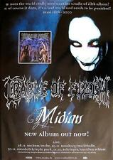 "Cradle of Filth TOUR POSTER/MANIFESTO CONCERTO ""Midian Tour"""