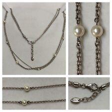 zweireihige ESPRIT Kette mit Perlen 925er Silber Silberschmuck Markenschmuck