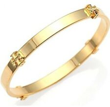 NWT Tory Burch Logo Bangle Bracelet In Gold Color W/ Receipt