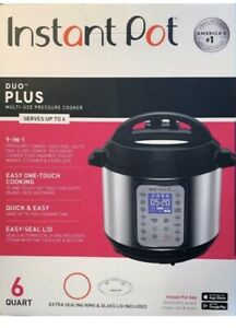 INSTANT POT DUO PLUS 60, 6 QT 9-IN-1 MULTI- USE PROGRAMMABLE PRESSURE COOKER NEW