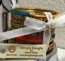 AMRITA SINGH - Gorgeous  bangles - Monaco Gold Multi NEW WITH TAGS