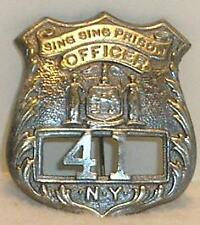 Sing Sing Prison New York NY Guard Police Badge Sheriff Ranger Marshal Free Ship