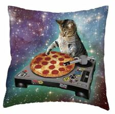 Pizza Cat in Space Novelty Cute Funny mixing decks cushion cover