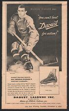 1951 Canadian Daoust Lalonde Skates print ad Maurice Rocket Richard