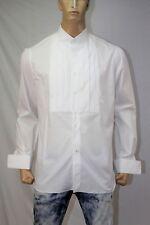 ISAIA Napoli Men's Formal Tuxedo Dress Cotton Shirt US 17-36 Made in Italy