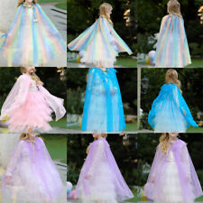 Fancy Girls Lace V Back Flower Tutu Tulle Party Dress Princess Cloak Dress New