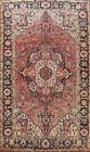 Geometric Semi Antique Traditional Hand-Knotted Area Rug Oriental Carpet 8x11