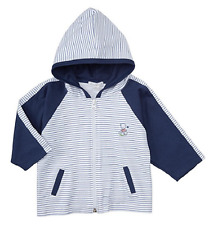 Kissy Kissy Infant Boys' Stripe Hooded Jacket, Navy, Size 0-3 Months, MSRP $43
