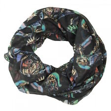 Nintendo Zelda Action and Icons AOP Black Infinity Soft Polyester Scarf NWT