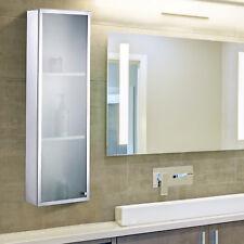Hängeschrank 3 Fächer Glasschrank Badschrank Glas Badezimmer Edelstahl 25x80cm
