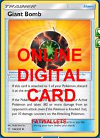 4X Giant Bomb 196/236 Unified Minds Pokemon TCG Online Digital Card
