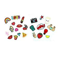 23pcs Cute Mixed Sew Iron on Embroidered Repair Patches for Jeans Clothing