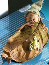 pixie,kobold,wicht,19x8cm,wichtel,waldgeister,blatt,frosch,die feenhaften,elfen