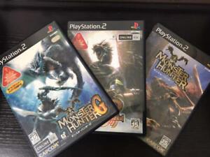 PS2 Monster Hunter & 2 DOS & G game set Japan Play Station 2