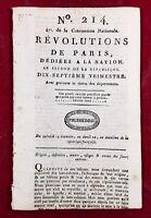 Procès de Marie Antoinette 1793 Veuve Capet Bourbon Chouans Cholet Luçon Angers