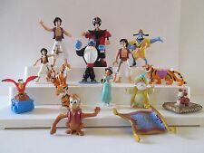 Disney ALADDIN Lot 15 Figures Cake Toppers Jasmine Genie Jafar Sultan Rajah