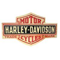 HARLEY DAVIDSON METAL TIN SIGN MOTORCYCLE TRADEMARK GARAGE WALL DECOR