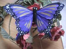 Authentic Purple Feather Fantail Butterfly - 10.0cm wingspan