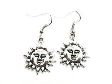 Sun Étnico Bohemio Hippy frontal enfrenta Pendientes Gancho Gota Colgante Soles