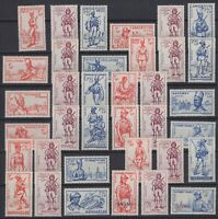 BT142675/ FRENCH COLONIES – EMPIRE DEFENCE – MINT MNH – COMPLETE SET – CV 210 $