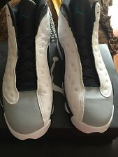 "2014 Nike Air Jordan Retro 13 ""Barons"" White/Tropical Teal Shoes! Size 12 w/Box!"