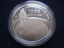 "MDS españa 1000 pesetas 1995 pp/proof ""olimpiada atlanta 1996"", plata #17"