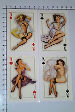 PIN UP KARTEN 4 Stück Aufkleber Sticker JDM Style Poker Casino Cards Ass Se023
