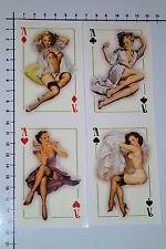 PIN UP KARTEN 4 Stück Aufkleber Sticker JDM Style Poker Casino Cards Ass Se023