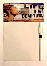 Cool A5 Memo Board Kitchen Fridge Magnet Magnetic Drywipe White Reminder Pen Life Is