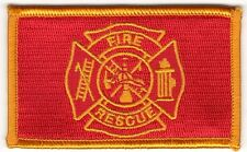 "Red Gold 2"" x 3 1/8"" Firefighter Fire Rescue Maltese Cross Patch"