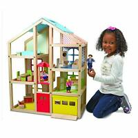 Melissa and Doug HI Rise Wooden Doll Dolls House Dollhouse Toys Toy Kids Childs