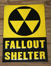 VINTAGE STYLE CIVIL DEFENSE ATOMIC BOMB FALLOUT SHELTER SIGNS MILITARY COLD WAR.