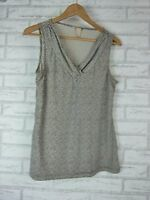 BANANA REPUBLIC Top/Blouse Sz S, 10 Black, Green Print