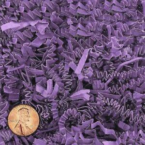 Crinkle Cut Paper Shred Gift Basket Paper Filler - Lavender - 4 oz 8 oz or 16 oz