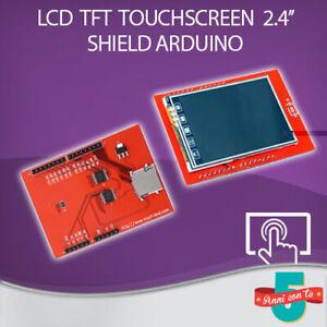 MODULO SHIELD DISPLAY COLORI LCD TFT TOUCHSCREEN 2.4'' POLLICI 240 x 320 ARDUINO