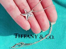 Tiffany & CO Elsa Peretti argento sterling Starfish con diamante collana