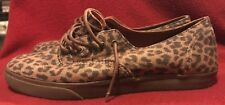 Vans Era Leopard suede 7 Women 5.5 Men vintage Slip On skate hi authentic rare