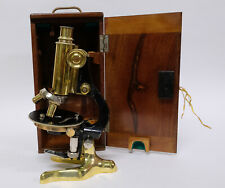 Antique Italian microscope by F. Koristka in original wooden box c1870