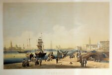 VENICE Impressive N. CHAPUY 1850 Lithograph Original Antique View Venezia Italy