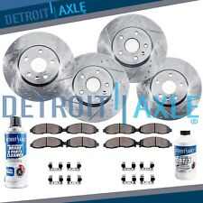 Front Rear DRILLED Brake Rotor & Ceramic Pads for 2007 2008 - 2013 NISSAN ALTIMA