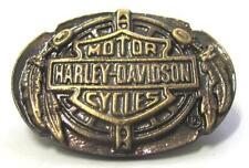 11614 HARLEY DAVIDSON PIN BADGE BRASS OVAL FEATHER LOGO MOTORCYCLE MOTOR BIKE