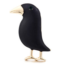 Crow Brooch Black Color Bird Brooches Suits Dress Hat Brooch Pin Scarf Buckle3c
