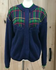 Vintage CHAUS Blue cardigan sweater size Med Chaus Sport