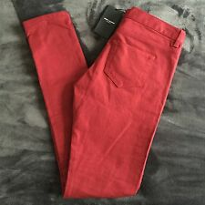 Saint Laurent Paris Women's Jeans Size 29 Signature 5 Pocket Deep Red Skinny