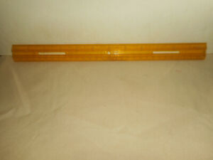 """Vintage 70'S HASBRO Plastic Ruler 12"""" Translucent Yellow Made in Pawtucket R.I."""