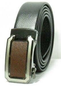 Fashion Men's Automatic Buckle Leather Ratchet Belt Waistband UB404
