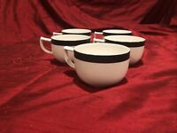 Set Of 5 Mikasa MAXIMA Super Strong Fine China Evening Shadows Coffee/Tea Cups