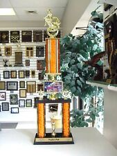 """25"""" TALL HALLOWEEN TROPHY SUPER COOL AWARD WITH WITCH FIGURE AND FUN GRAPHICS"""