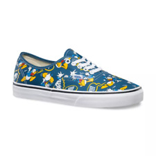 Vans x Disney DONALD DUCK Authentic Shoes (NEW) Mens Size 9 NAVY BLUE Free Ship!