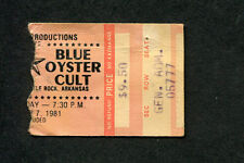 1981 Foghat Blue Oyster Cult Concert Ticket Stub Little Rock Fool For The City